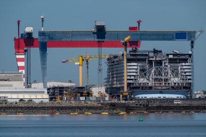 Saint-Nazaire 44 - Construction d'un paquebot