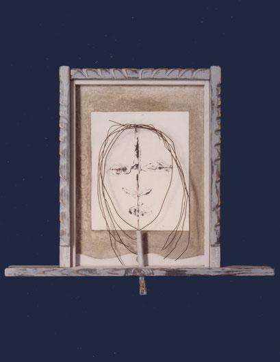 RETRATO. 1993. 62 x 52 x 5 cm. Técnica mixta