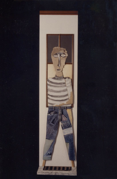 OTRO AMIGO. 1996. 214 x 52 x 32 cm. Mixed media
