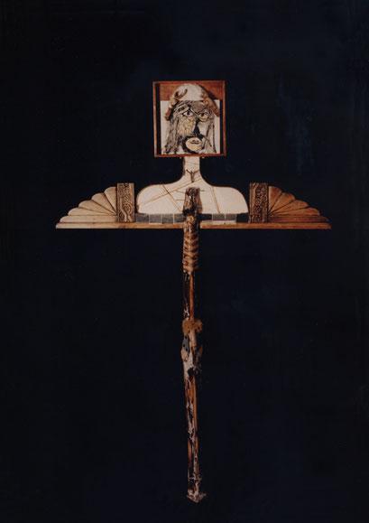 OTRO CRISTO. 1996. 185 x 121 x 13 cm. Mixed media