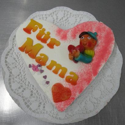 Muttertag - Torte mit Schriftzug