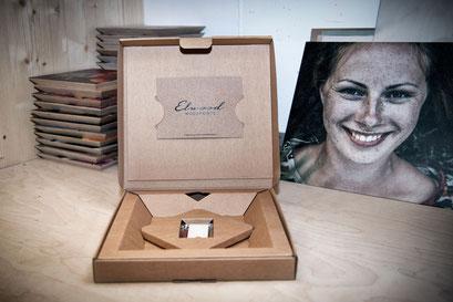 Geschenkidee Woodprints inklusive Geschenkbox