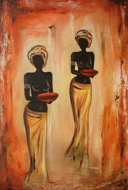 F 45 - Figuerliche Malerei - Figurative Wandbilder - Africa Women 2