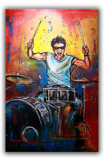 F 12 - Figuerliche Malerei - Figurative Wandbilder - Drummer 2