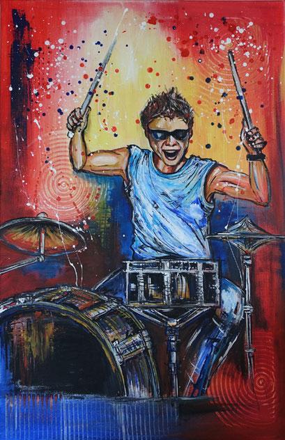 F 11 - Figuerliche Malerei - Figurative Wandbilder - Drummer
