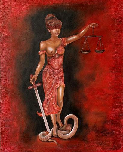 F 33 - Figuerliche Malerei - Figurative Wandbilder - Justizia