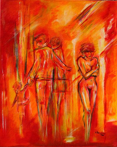 F 57 - Figuerliche Malerei - Figurative Wandbilder - Zwei Welten