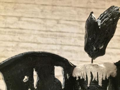 The Ghost II - 12/2018 - 17,5x11x13 cm - ofenhärtender Ton, Draht & Klarlack