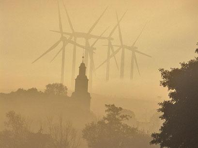 Türme im Morgennebel