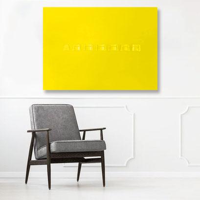 Nobahar-Design-Milano-Contemporary-3dPrinted-artwork-wallpanel-yellow-interiordesign