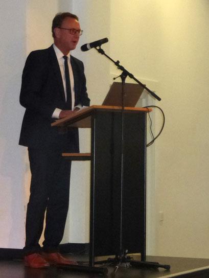 Begrüßungsrede durch Thomas Groß, stellv. Bürgermeister der Stadt Dinslaken