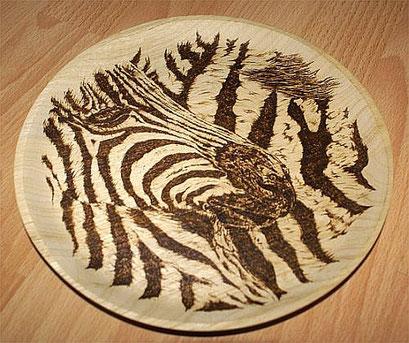 """Holzteller """"Zebra"""""""