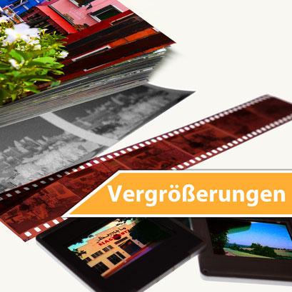 Vergrößerung von Film