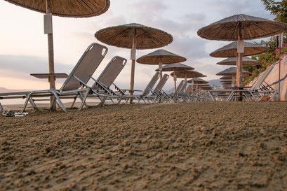 Am Strand von Geogiopoulis