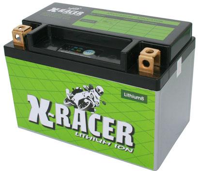 Unibat X-Racer Lithium 8, 180 CCA, Abmaße 150 x 87 x 105mm, Gewicht 0,7 kg