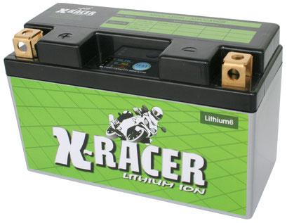 Unibat X-Racer Lithium 6, 290 CCA, Abmaße 150 x 65 x 92 mm, Gewicht 1,1 kg