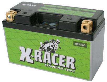 Unibat X-Racer Lithium 5, 190 CCA, Abmaße 150 x 65 x 92mm, Gewicht 0,7 kg