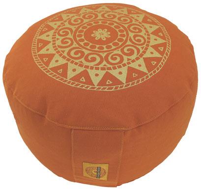 """Meditationskissen """"Ur-Mandala Variation"""" terracotta"""