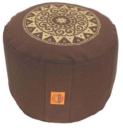 """Meditationskissen """"Ur-Mandala Variation"""" braun"""