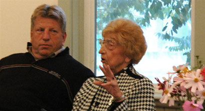 Ed Arhold and his mother, speaker Louise Arnhold- Bisterfeldt
