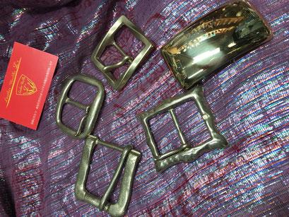 ソリッドブラス(真鍮無垢)バックル各種在庫あります