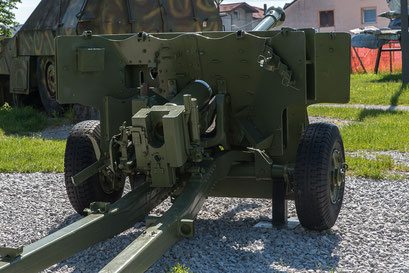 Rückseite der 76-mm-Divisionskanone M1942