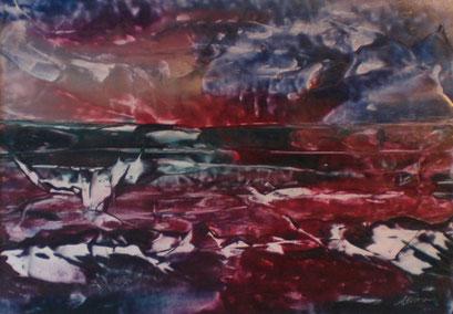 Titel: Sonnenuntergang am Meer, Jahr: 2011