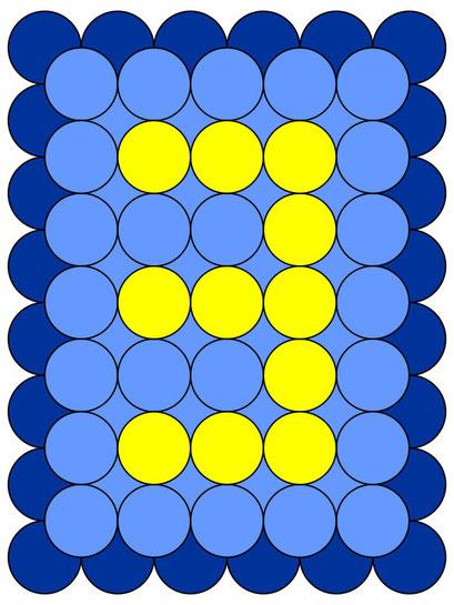 сэндвич панно из воздушных шаров - цифра 3