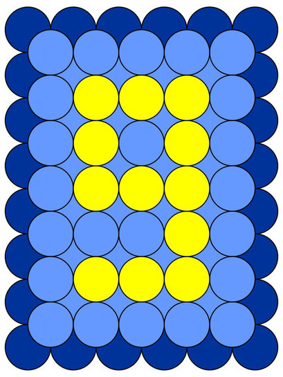 сэндвич панно из воздушных шаров - цифра 9