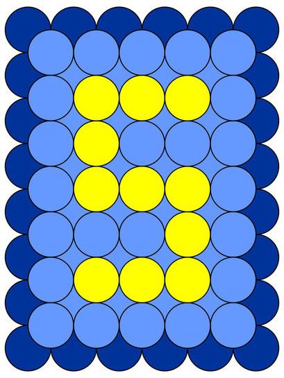 сэндвич панно из воздушных шаров - цифра 5