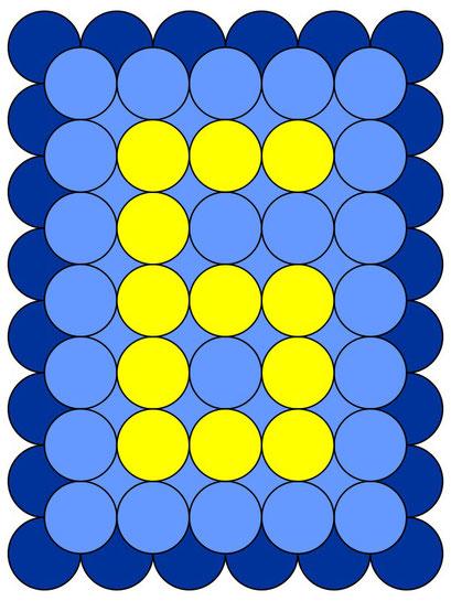 сэндвич панно из воздушных шаров - цифра 6