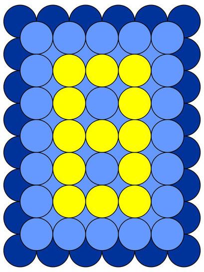 сэндвич панно из воздушных шаров - цифра 8