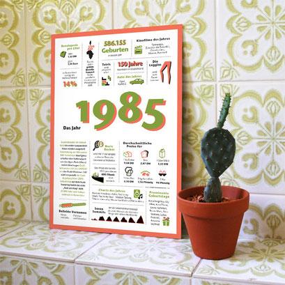 Ein Jahr in Zahlen & Fakten – Das Jahr 1985