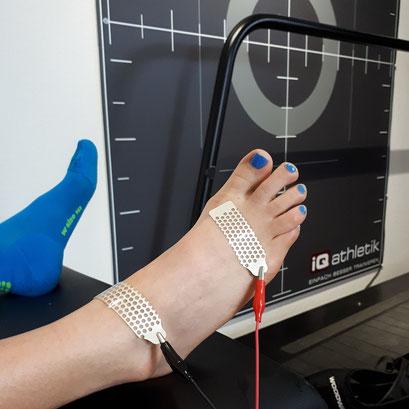 Bioelektrische Impedanz Analyse (BIA) zum Bestimmen der Körperzusammensetzung