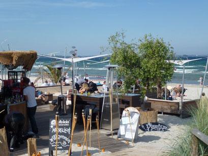Louge am Strand - strandnahe Gastronomie