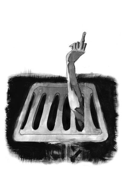die Hand aufm Arm ausn Gulli- Darabant