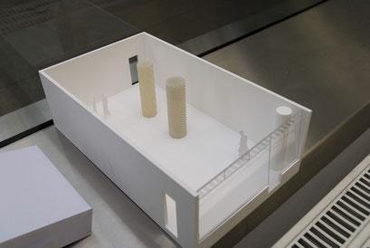Modell des Ausstellungsraumes