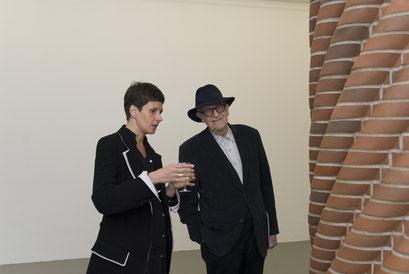 Sandra Peters mit Werner Ruhnau