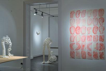 """Vue de l'exposition """"Retournement en cours"""", Maison des artistes, CC Escale du Nord, Anderlecht. 2016. Photo Patricia Mathieu"""
