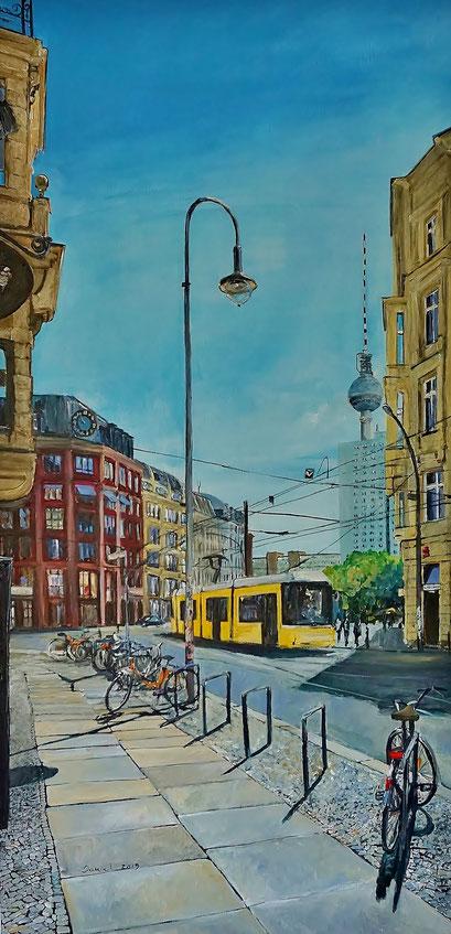 Am Hackeschen Markt, 50x100 cm, 2019