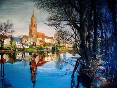 Altstadtinsel Rathenow, 120x90 cm, 2016 (verk.)