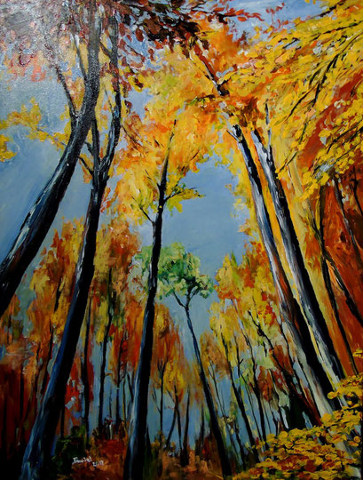 Buchen, Herbstfärbung, 60x80cm, 2012