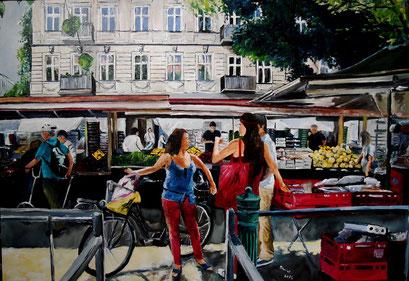 Türkischer Markt, Maybachufer, Berlin - Kreuzberg, 100x70cm, 2014