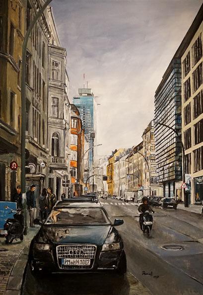 In der Münzstraße, Berlin-Mitte, 70x100 cm. 2019