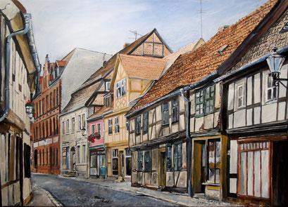 In der Altstadt von Tangermünde, 70x50cm, 2015 (verk.)