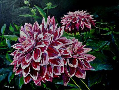Dahlienblüte III, 80x60 cm, 2016