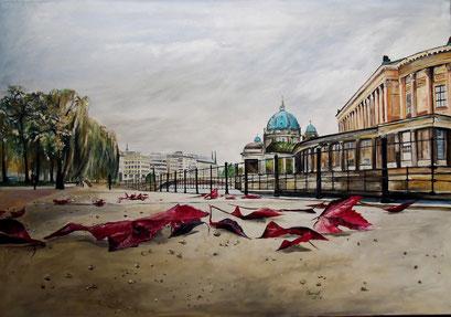 An der Museumsinsel (James Simon Park), 100x70cm, 2014 (verk.)