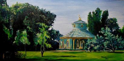 Das Chinesische Haus, Potsdam Sanssouci, 100x50 cm, 2016 (verk.)