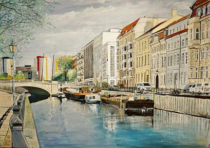 Am Historischen Hafen, Berlin, 100x70 cm, 2018