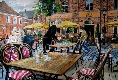 Potsdam, Café, Holländisches Viertel 100x70cm, 2014